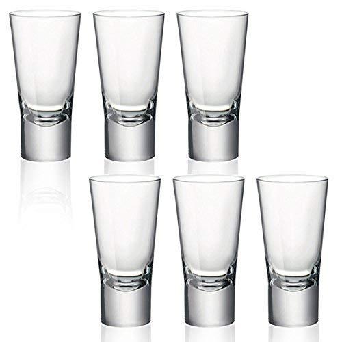 Bormioli Rocco, Ypsilon, bicchierini per shot di Vodka, a vetro doppio temperato, da 70 ml, Vetro, Set da 6