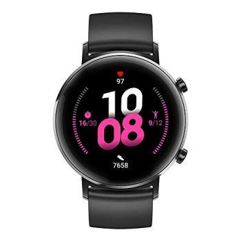 HUAWEI Watch GT 2(42mm) Montre connectée, Autonomie d'une semaine, GPS intégré, 15 Modes de Sport, Suivi du rythme cardiaque en temps réel, Tracker d'activité quotidien, Noir