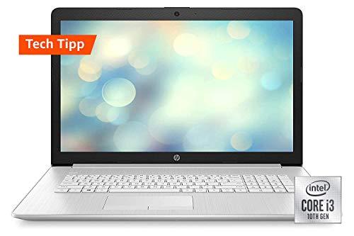 HP 17-by3235ng (17,3 Zoll / HD+) Laptop (Intel Core i3-1005G1 dual, 8GB DDR4 RAM, 512GB SSD, Intel UHD Grafik, Windows 10) silber
