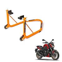 Vehicle compatibility: Bajaj Dominar 400 Ideal tool for -chain cleaning, chain lubrication, inspecting tyre for punctures and other maintenance purposes Rotatable swing arm rest to increase grip on swing arm and enhance stability Extra torsional supp...