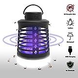 Lukasa Moustique Tueur Lampe, 2 en 1 Lampe Anti Moustique et Lanterne de Camping, IP67 Étanche USB...