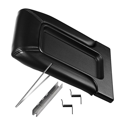 Center Console Lid Replacement Kit Black - Replaces 924-811, 19127364, 19127365, 19127366 - Compatible with Chevy, GMC & Cadillac Vehicles - Silverado, Avalanche, Tahoe, Suburban, Sierra, Yukon