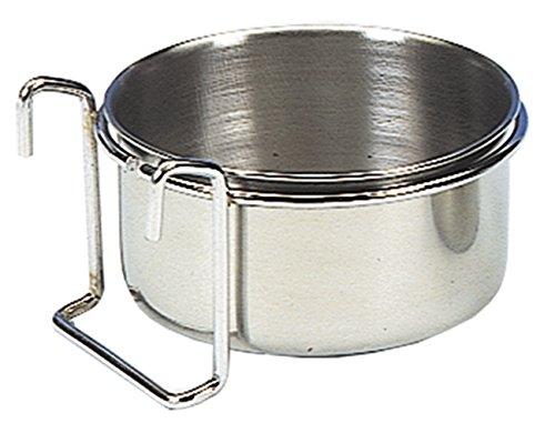 Nobby Edelstahlnapf mit Befestigung Ring mit Haken 15,0 cm 0,85 ltr