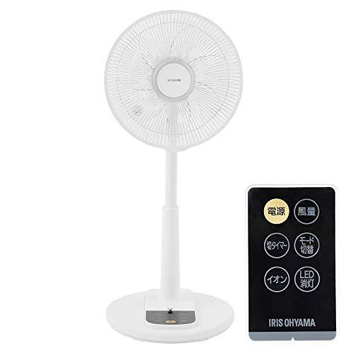 アイリスオーヤマ 扇風機 首振り 風量3段階 リモコン付き タイマー機能付き イオンモード ホワイト 2019年...