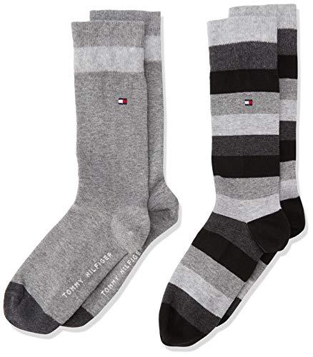 Tommy Hilfiger - Th Kids Basic Stripe Sock 2 Paia, Calze per bambini e ragazzi, nero(schwarz (black...