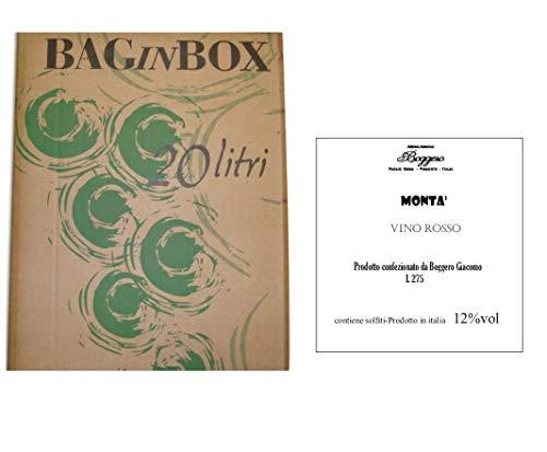 Boggero Bogge Wine - Vino rosso Dolcetto'Mont' Bag in Box 20 L