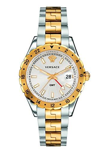 Versace Unisex Erwachsene Analog Quarz Uhr mit Edelstahl Armband V11030015