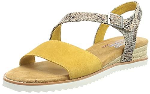 Skechers 113004-YEL_38, Sandalias para Exteriores Mujer, Amarillo, EU