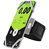 Bone Collection Running Armband Phone Holder, Lightweight Sports Cell Phone Arm Band for iPhone XS Max XR X 8 7 Plus Samsung Galaxy S10 S9 S8 Smartphone, Run Tie Series - Gray (Small)