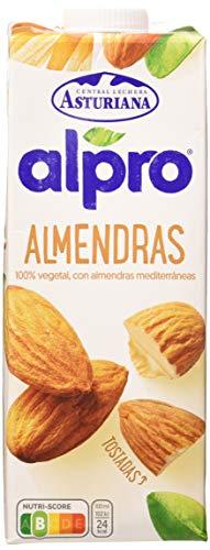 Alpro Central Lechera Asturiana Bebida de Almendras, 8 x 1L