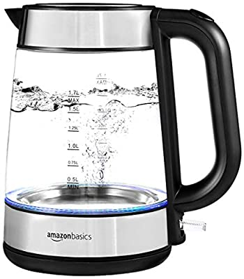 Fast-heating electric glass and steel kettle for quickly and conveniently boiling water Make herbal tea, hot chocolate, instant soups, and more without the hassle of heating water on the stovetop Glass carafe with non-heating handle easily detaches f...