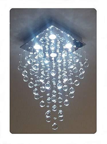 Lustre Plafon de Cristal Legítimo - Base 30x30 - Debby Artes