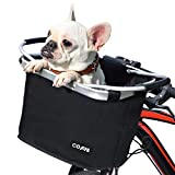 COFIT Collapsible Bike Basket, Multi-Purpose Detachable Bicycle Basket for Pet, Shopping, Commuter, Camping and Outdoor, Basic Black