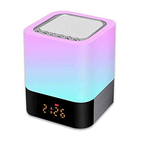 Luz Nocturna Altavoz Bluetooth, Gingbiss Lámpara Táctil Qu