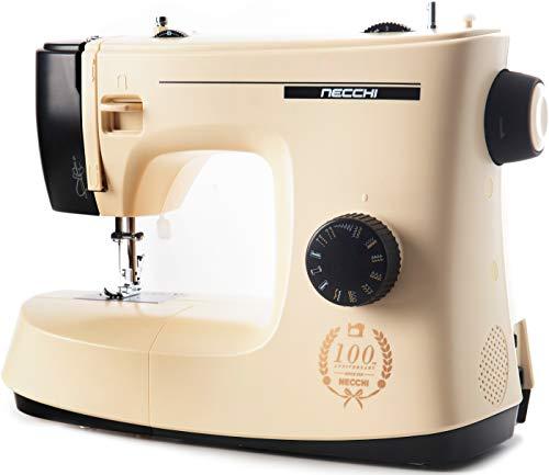 Necchi KM417A New Mirella Macchina da Cucire con 17 Punti di Cucitura, Esclusiva, Facile per da Usare per Principianti, Cucitrice Automatica da Casa, Cucito Creativo, Professionale, Elettrica