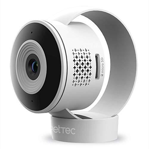 PetTec Cam Lite - Telecamera di Sorveglianza Wireless per Animali Domestici e Bambini - App, Sensore di Movimento, Zoom, Altoparlante, Microfono, Visione Notturna - Mini Telecamera WiFi