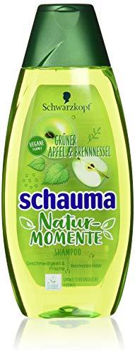 Schwarzkopf Schauma Nature Moments Shampoo, Grüner Apfel und Brennessel, 5er...