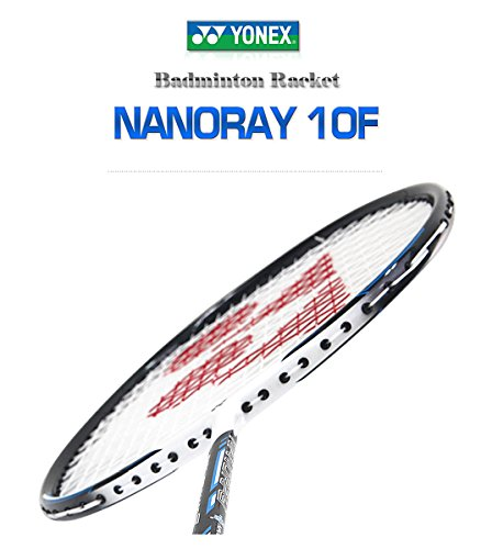 Yonex NANORAY 10F NEW Badminton Racket 2017 Racquet Blue 4U/G5 Pre-strung with a Half-length Cover (NR10F-BLUE)
