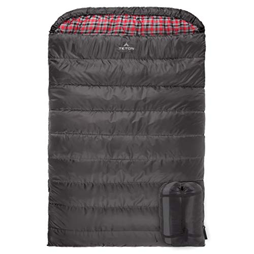TETON Sports Mammoth - -18°C Queen Size Sleeping Bag w/ Compression Sack.