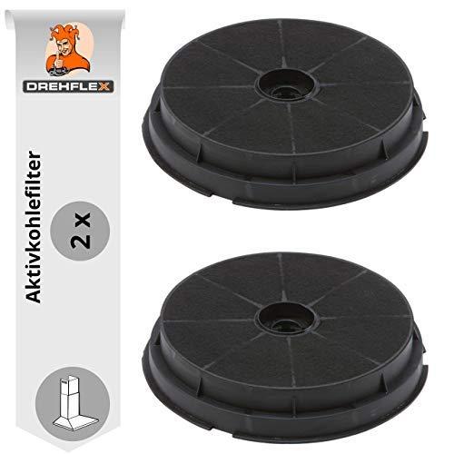 DREHFLEX-2 Filtri al carbone attivo per cappa aspirante, 190 mm - Adatti per cappa Refsta