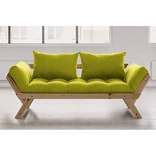 Karup Divano meridiana Stile scandinavo futon Verde Pistacchio Bebop Pelo 75* 200cm