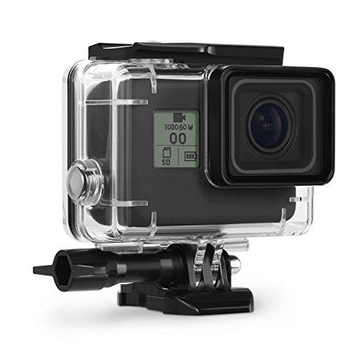 Kupton Custodia Protettiva Impermeabile per GoPro Hero 7 Black/(2018)6/5 Case Subacquea 45m con Attaco Mobile Rapido e Vite per Go PRO Hero7 Black/(2018) 6/5 Black