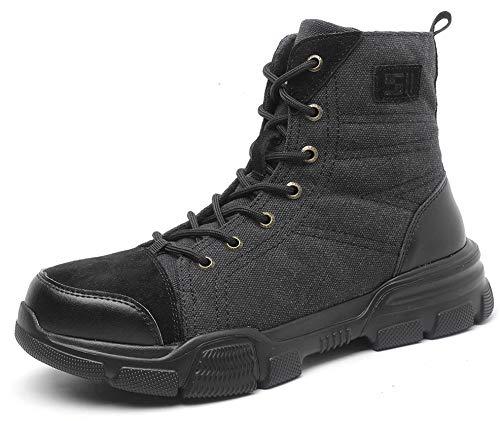 SUADEX おしゃれ 安全靴 ハイカット あんぜん靴ブーツ ミドルカット作業靴 冬用 安全ブーツ黑 軽量 半長靴 安全 短靴 作業 ショートブーツ あんぜん はいカット安全 鋼先芯 耐摩耗 ケブラー防刺 耐滑