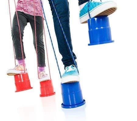 ArturoLudwig Tub Stelzen - Topfstelzen Kinder Joey - Tub Stelzen Kinder Spielzeug Füße Outdoor Sports 1 Paar , Zufällige Farbe by