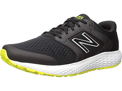 new balance Men's 520v5 Cushioning Running Shoe, Black/Sulfur, 10.5 D US