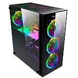 Gabinete Ocelot Gaming ATX, Mini ATX, ITX, Panel Frontal de Malla y Lateral de Cristal Templado, sin Fuente de Poder