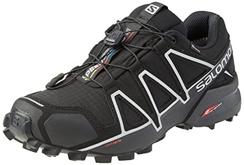 Salomon Speedcross 4 GTX Men's Waterproof Trail Running Shoes, Black Black Black Silver Metallic X, 10.5 UK
