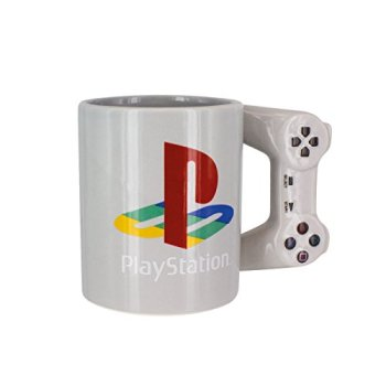 Paladone PP4129PS Playstation PS4 Controller Shaped Standard Size 300ml Coffee Mug, Ceramic, Multi, 9 x 15 x 11 cm