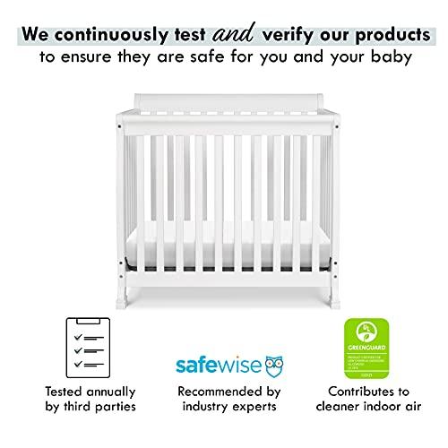 Product Image 5: DaVinci Kalani 4-in-1 Convertible Mini Crib in White, Greenguard Gold Certified