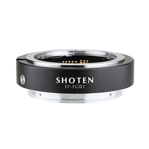 SHOTEN マウントアダプター EF-FG01(キヤノンEFマウントレンズ → 富士フイルムGマウント変換)電子接点付き
