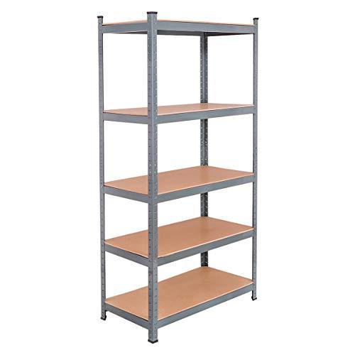 Tangkula 72' Storage Shelves, Heavy Duty Steel Frame 5-Tier Garage Shelf, Metal Multi-Use Storage Shelving Unit for Home/Office/Dormitory/Garage