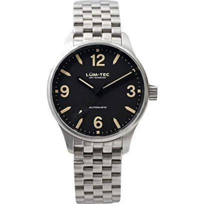 Lum-Tec C5 Automatic Wrist Watch | Matte Steel Wrist Watch Band