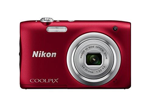 "Nikon COOLPIX A100 - Cámara Digital (Cámara compacta, 1/2.3"", 4,6-23 mm, Auto), roja"