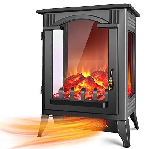 TRUSTECH Electric Fireplace Heater - 1500W / 750W Infrared Fireplace...