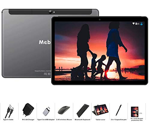 MEBERRY Tablet 10 Pollici Android 9.0 Pie Tablets 4GB RAM + 64GB ROM - Certificato Google GSM - Dual...