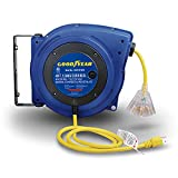 Goodyear Extension Cord Reels (12AWG x 40 FT (SJTOW Cable) w/LED Light-Up Tap)