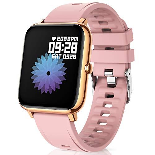 Canmixs Smartwatch Orologio Fitness Donna Uomo Bluetooth Smart Watch Cardiofrequenzimetro Da Polso...