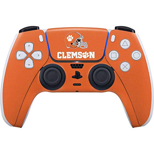 Skinit Decal Gaming Skin Compatible with PS5/PS5 Digital Edition DualSense Controller - Officially Licensed Clemson Football Design (Electronics)