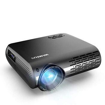Vidéoprojecteur, WiMiUS 7000 Vidéo Projecteur Full HD 1920x1080P Natif Rétroprojecteur Supporte 4K Audio AC3 avec Réglage Digital 90,000 Heures Projecteur LED Home Cinéma & Présentation PPT