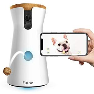 Furbo Dog Camera: Treat Tossing, Full HD Wifi Pet Camera and 2-Way Audio, Designed for Dogs, Compatible with Alexa (As Seen On Ellen), white