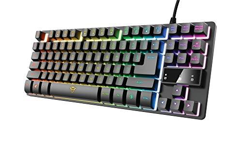 Trust Gaming Teclado Gamer TKL GXT 833 Thado Teclado...