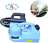 GESUNDHOME 7L Electric ULV Fogger - Portable Ultra-Low Atomizer Disinfection Sprayer - Large Area Sterilization/Disinfection Suitable for Indoor and Outdoor Public (Blue)