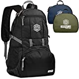 Traveling Backpack- Foldable collapsible lightweight backpack for travel (Black)