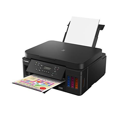 Canon Pixma G6050 Megatank All-in-One nachfüllbares 3-in-1 Tintenstrahl Multifunktionsgerät (Kopierer, Scanner, Drucker, WiFi, USB 2.0) große Tintenbehälter, Hohe Reichweite, niedrige Seitenkosten