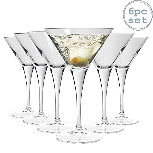 Bormioli Rocco Bicchiere da Martini/Cocktail Ypsilon - 245 ml - 6 Pezzi