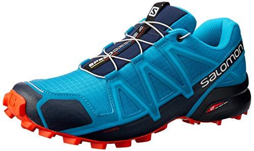SALOMON Speedcross 4, Scarpe da Trail Running Uomo, Blu (Fjord Blue/Navy Blazer/Cherry Tomato), 40...